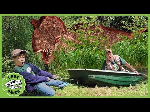 T-Rex Dinosaurs & Dinomaster Are Back! Epic Dinosaur Adventure, Dino Eggs & Kids Pretend Play Toys