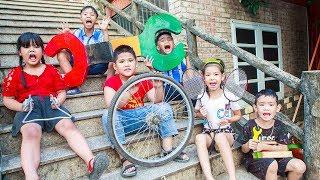 Kids Go To School | Chuns and Best Friends Learn Bike Repair Creativity Of Children Smart