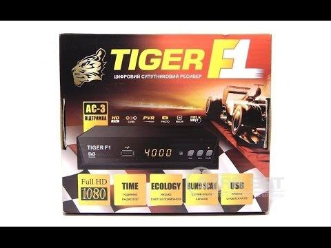 Видео обзор спутникового ресивера Tiger F1 HD