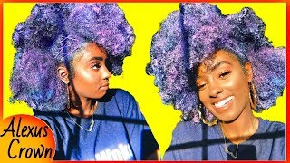 I COLORED MY HAIR PURPLE!! | Dark N' Lovely Go Intense Hair Color Review