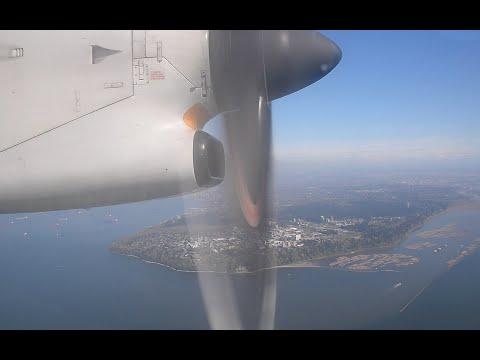 Air Canada Jazz De Havilland Dash 8-300 Onboard Landing At Vancouver YVR