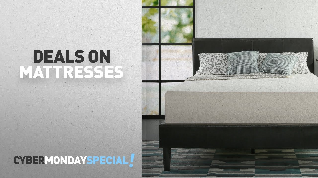 top cyber monday mattresses deals zinus memory foam 12 inch green tea mattress queen youtube. Black Bedroom Furniture Sets. Home Design Ideas