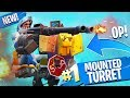 *NEW* MOUNTED TURRET VICTORY in Fortnite!!