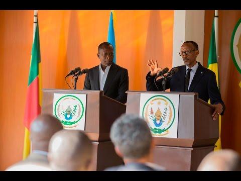 RWANDA & BENIN PRESIDENTS ADDRESS THE PRESS