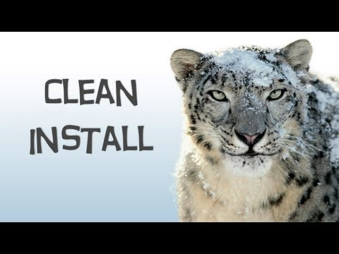 How To Do A Clean Install Of Snow Leopard - YouTube