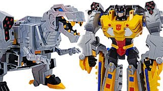 Transformers Cyberverse Ultimate Class Grimlock! Transform into a dinosaur! | DuDuPopTOY