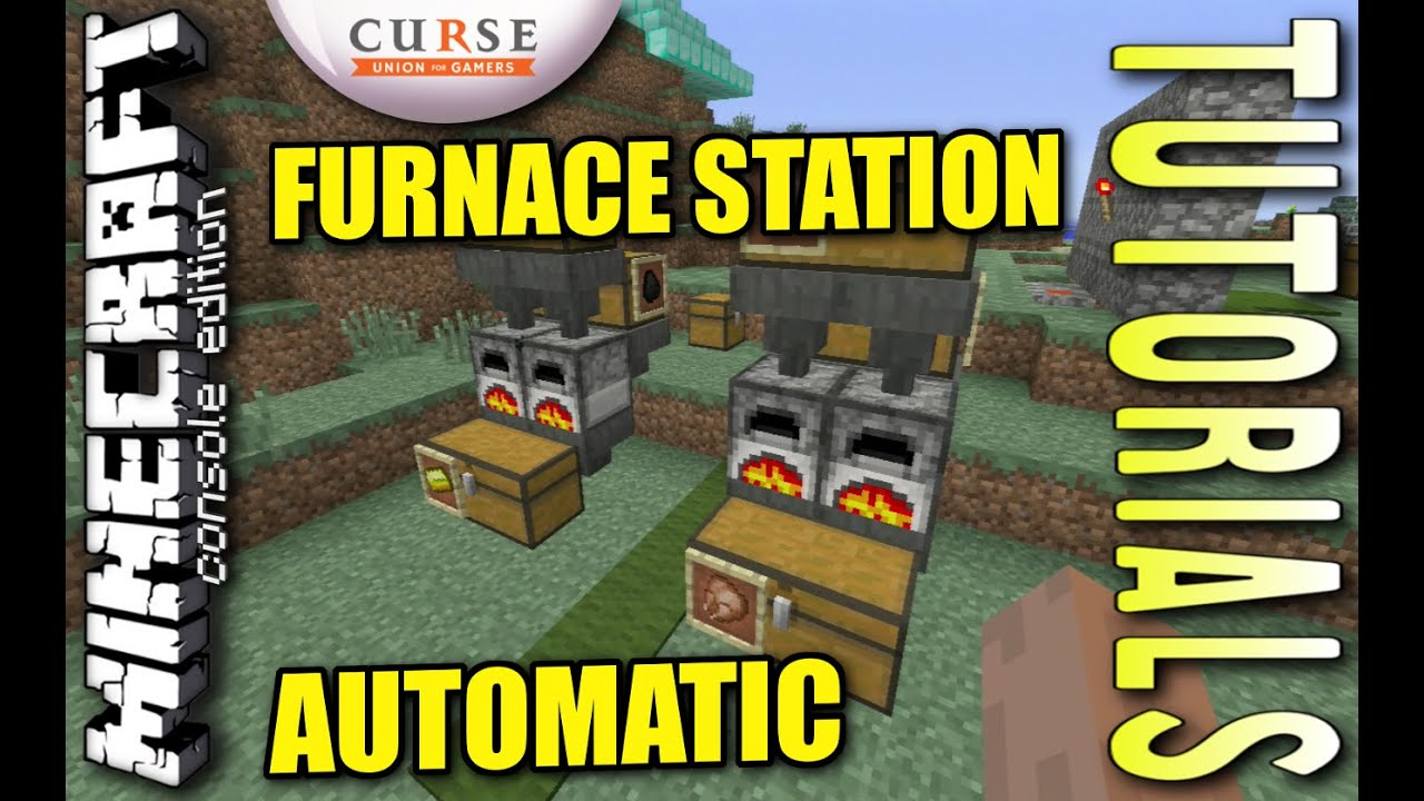 MINECRAFT - PS3 - AUTOMATIC FURNACE STATION - HOW TO ...