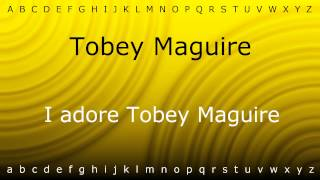 Here I will teach you how to pronounce 'Tobey Maguire' with Zira.mp4
