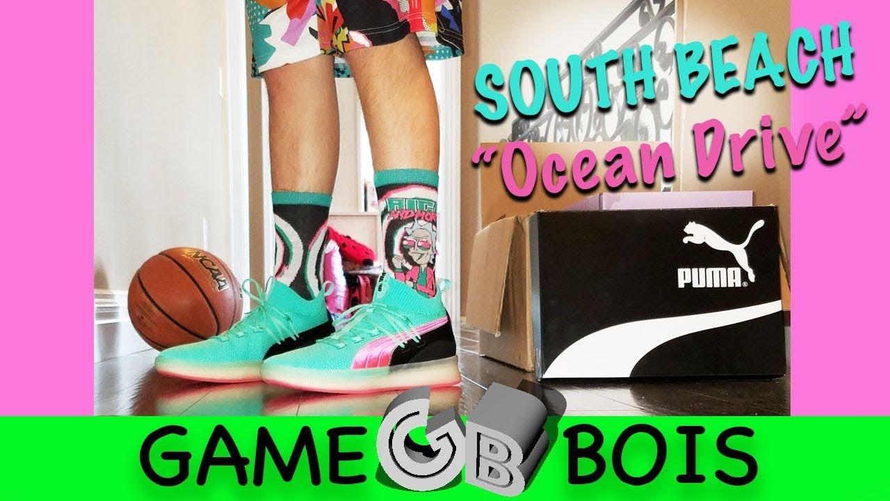 buy online 33bb0 8e68a Puma Clyde Court Disrupt South Beach/
