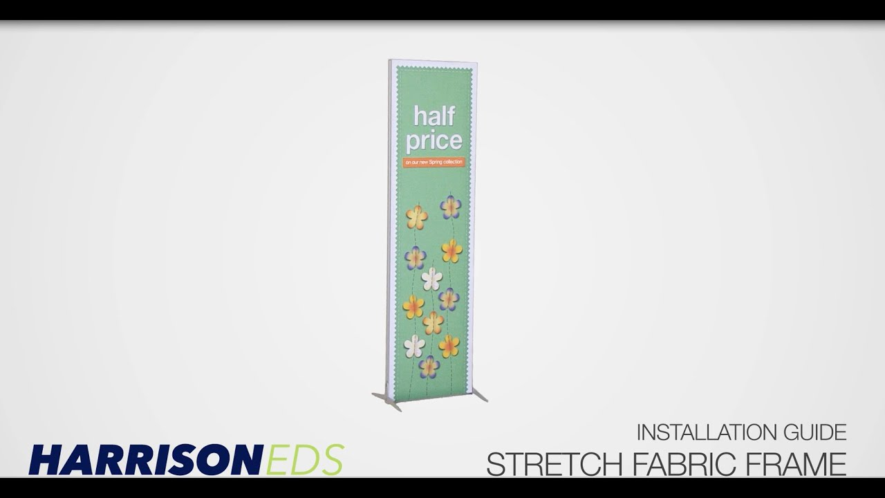 Stretch Fabric Frame | TFS System | Installation Guide - YouTube