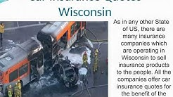 Car Insurance Quotes Wisconsin