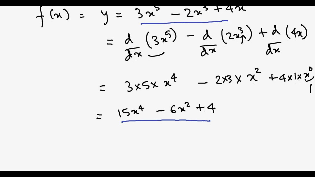 Simple Differentiation Tutorial O Level Maths