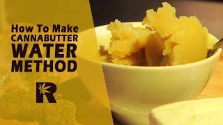 Wie man Cannabutter Mit Wasser Für Glatte Geschmack (Kleine Batch in der Butter-Maschine): Cannabasics #43