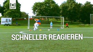⚽  Fußball-Torschussübung für Kinder - Farben-Wettschießen - Fußballtraining