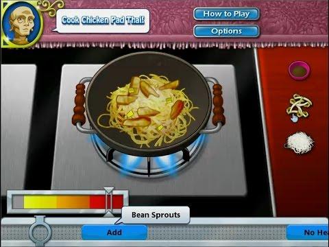 เกมส์ทำอาหารไทย ผัดไท - Pad Thai Cooking Game パッドタイ,팟 타이,タイ風焼きそば