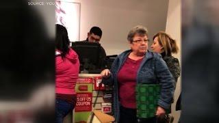 Woman yells racial slurs at shoppers