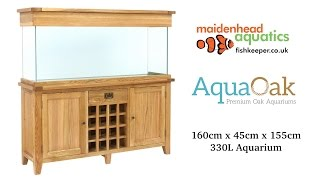 aqua oak 160cm wine rack aquarium and cabinet