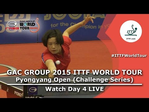 2015 ITTF World Tour Pyongyang Open - Day 4 Afternoon