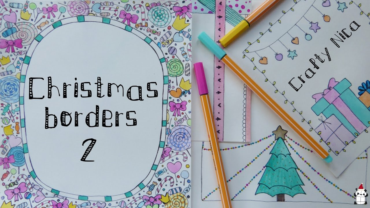 Borders for Christmas Cards u0026 notebook covers * Decoration ideas (2) & BORDERS AND FRAMES DESIGNS. Borders for Christmas Cards u0026 notebook ...