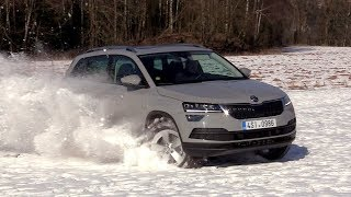 New 2018 Škoda Karoq 2,0 TDI 4x4 | Road, Off-road driving footage