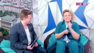 NEWСИБИРСКОЕ УТРО 22.02.2017. В гостях Надежда Ангарская - Comedy woman