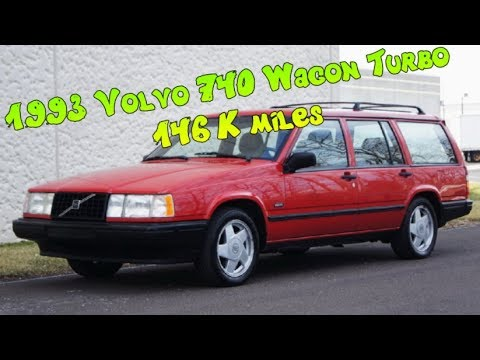 1993 Volvo 740 Station Wagon 2 3l Turbo Red