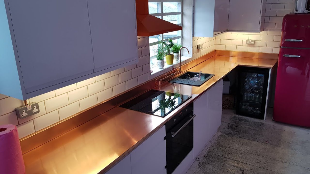 Ceramic Kitchen Top 3 Compartment Sink Bespoke Copper Polished And Protected With Pro Air