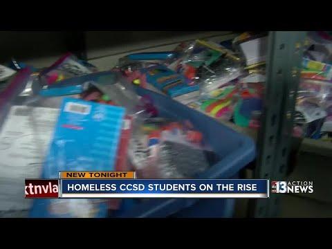 Growing number of homeless students in Las Vegas