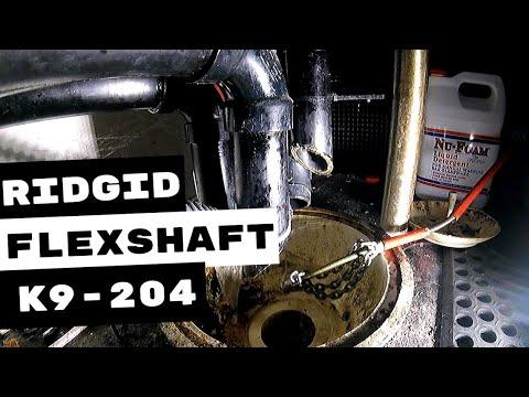 PLUMBING REPAIR RIDGID K9-204 FLEXSHAFT DRAIN CLEANING MACHINE