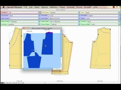 Garment Designer Software Prep for Printing & Sewing - YouTube