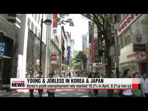 Youth unemployment rate rising in Korea, falling in Japan   한국 청년 실업률 상상... 일본은