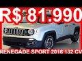 PASTORE R$ 81.990 Jeep Renegade Sport 2016 Prata Melfi Metálico AT6 aro 16 1.8 16v Flex 132 cv #Jeep