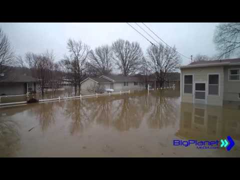 Record Flood Lake of the Ozarks Aerial Footage, shot with a q-500 4k
