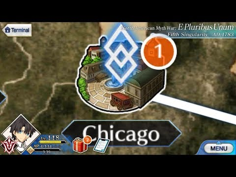 Fate grand order - Open a new map of Chicago ( North American Maps )!!!