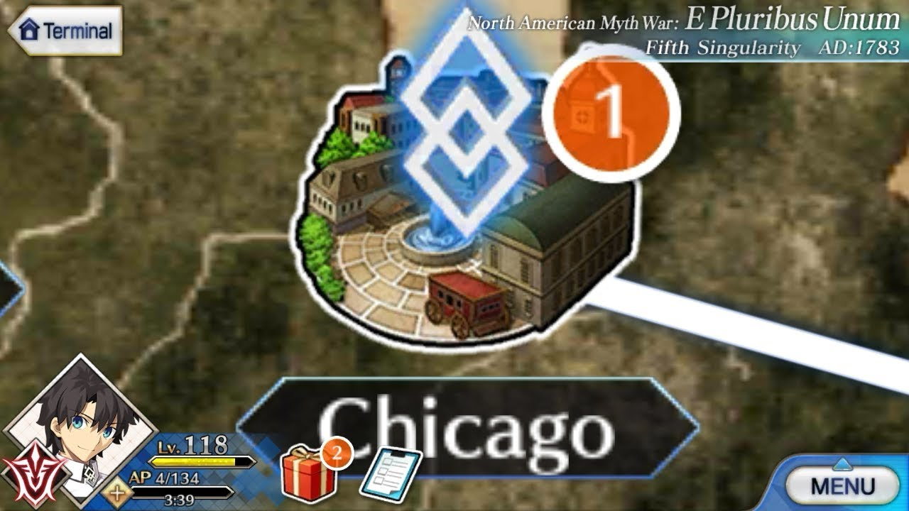 Chicago America Map.Fate Grand Order Open A New Map Of Chicago North American Maps