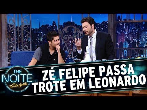 The Noite (07/09/16) - Zé Felipe passa trote em seu pai, o cantor Leonardo