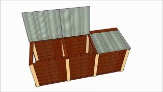 3 Bin Compost Bin Plans