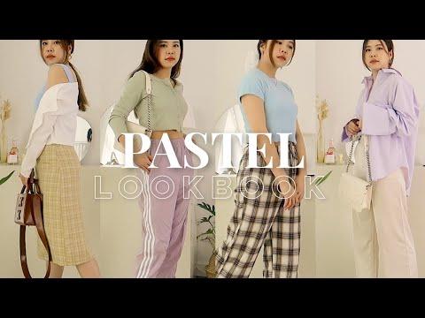 PASTEL OUTFIT IDEAS   lookbook mix&match เสื้อผ้าโทนสีพาสเทลสุดฮิต