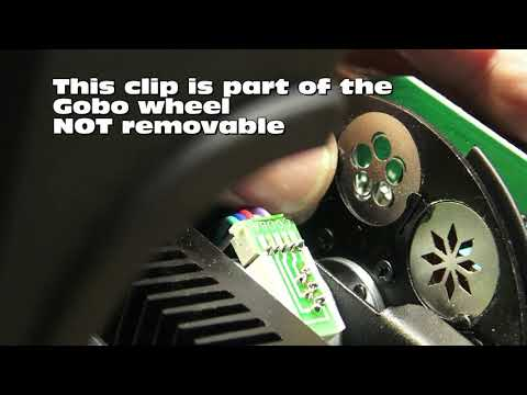 ADJ Pocket Pro Gobo Removal and Replacement