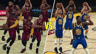 2018 Cavaliers vs 2018 Warriors! Can The Cavs Win? NBA 2K18 Gameplay!