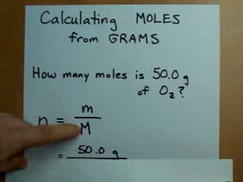Calculating Moles from Grams (Mass to Moles) - YouTube