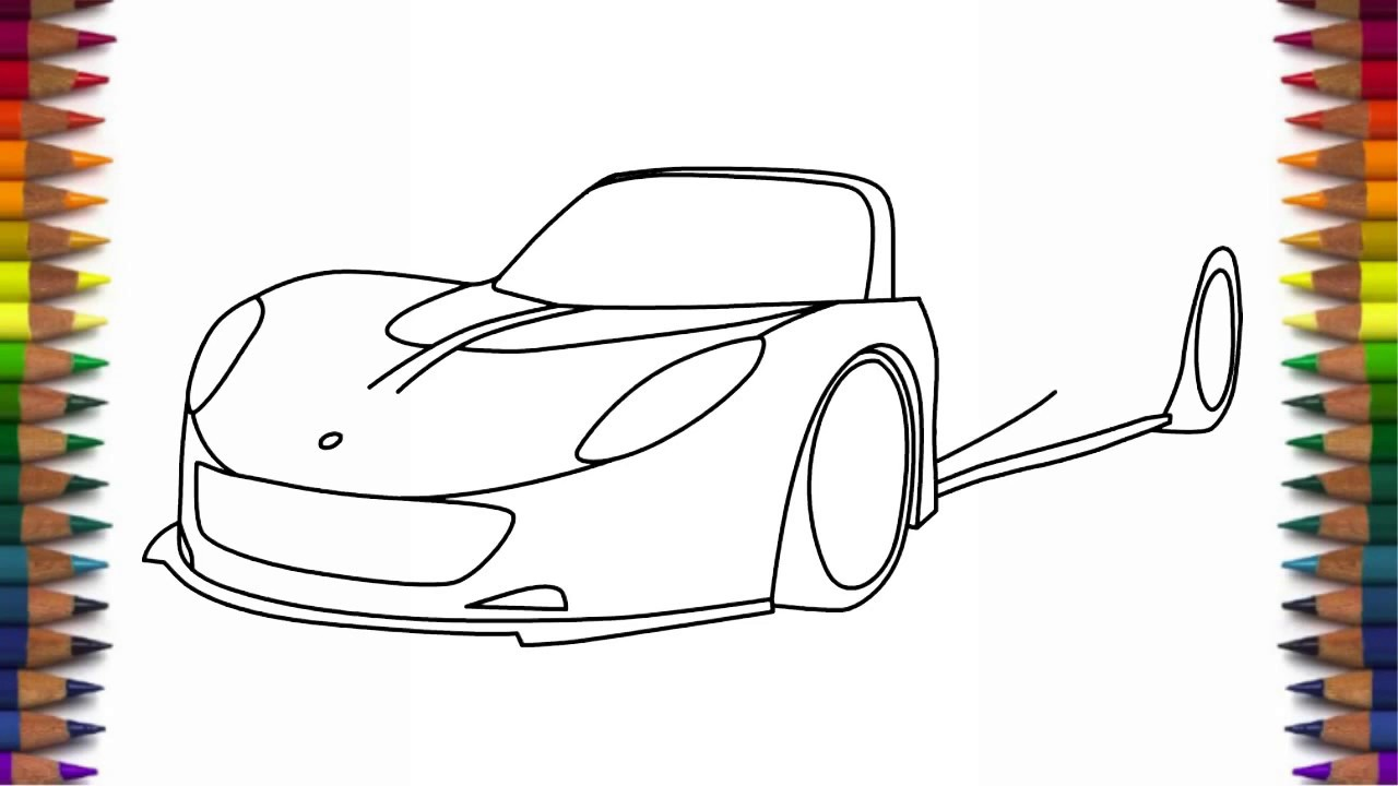 How to draw Hennessey Venom GT supercar step by step easy ...