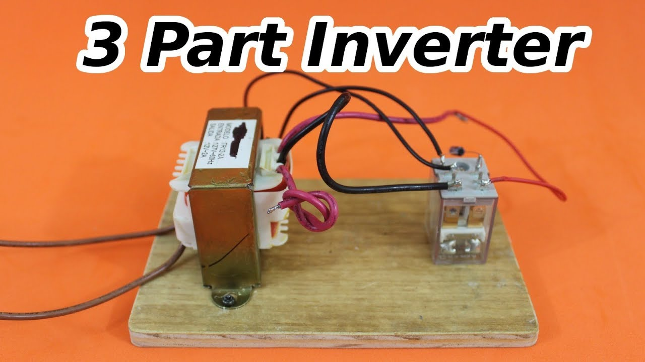 12 VDC to 120 VAC Inverter with 3 Components Vacuum Wiring Diagram V on
