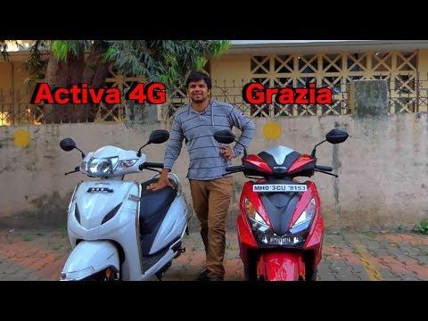 Honda Grazia vs Honda Activa 4G Comparison - Hindi