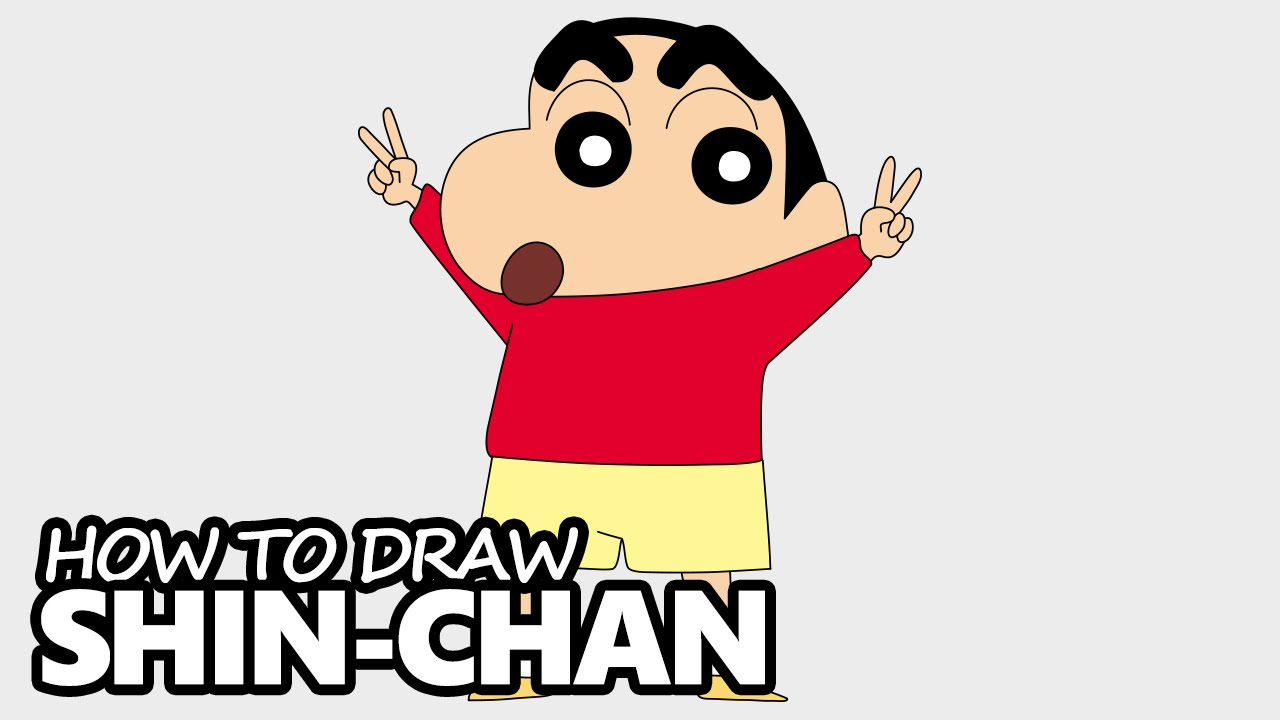 How To Draw Shin Chan Easy Step By Step Video Lesson Youtube