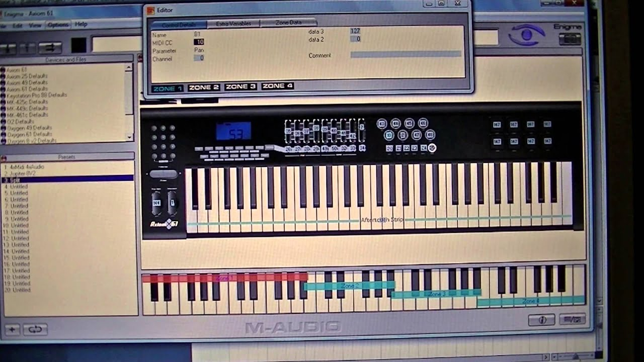 axiom 61 controller keyboard split using cubase 5 tutorial youtube. Black Bedroom Furniture Sets. Home Design Ideas