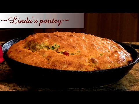 ~Bacon Jalapeno Cheddar Cornbread With Linda's Pantry~