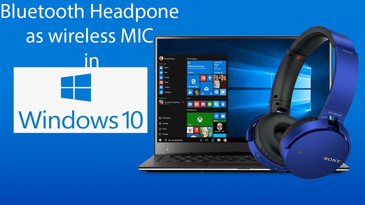 How To Use Bluetooth Headphone As Wireless Mic For Laptop Or Desktop Youtube