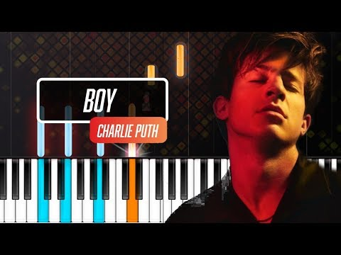 "Charlie Puth - ""Boy"" Piano Tutorial - Chords - How To Play - Cover"