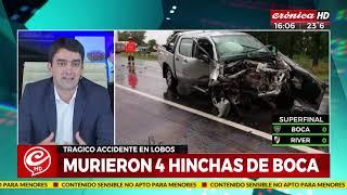 Accidente fatal en Lobos: Murieron cuatro hinchas de Boca